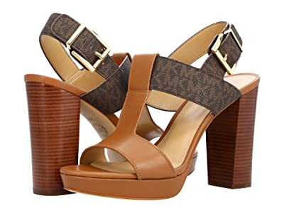 MICHAEL Michael Kors Becker T Strap (Brown/Acorn) Women
