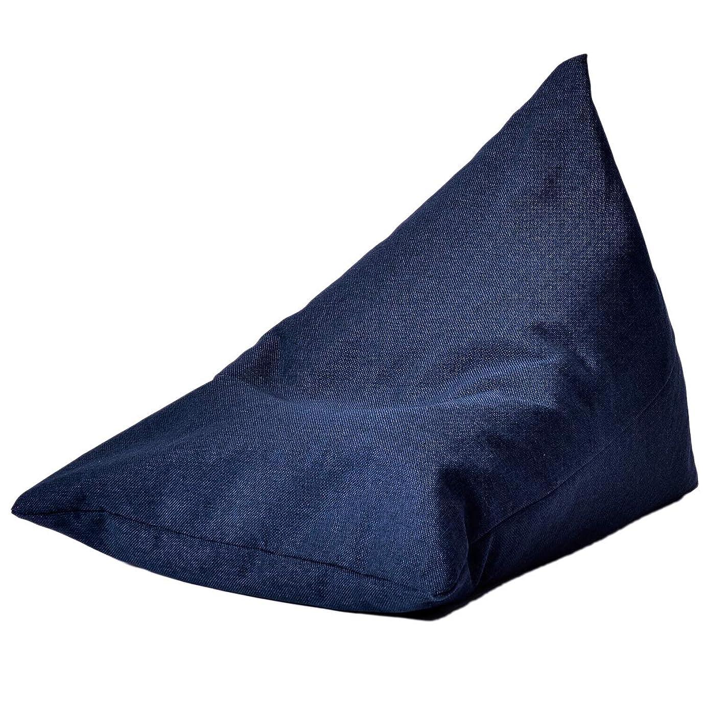 同時反動ボウリングOSLEEP ビーズクッション 洗える ビーズソファ 背もたれ かわいい座椅子 座布団 人をダメにするソファ 極小ビーズ カバー 5色 (ネービー, Lサイズ)