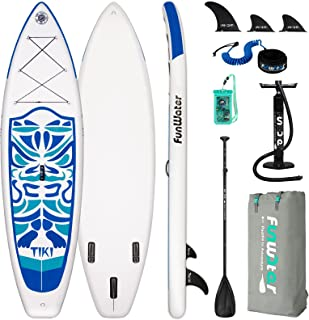 """FunWater Inflatable 10'6×33""""×6"""" Ultra-Light (17.6lbs) SUP for All Skill Levels Everything Included with Stand Up Paddle Bo..."""