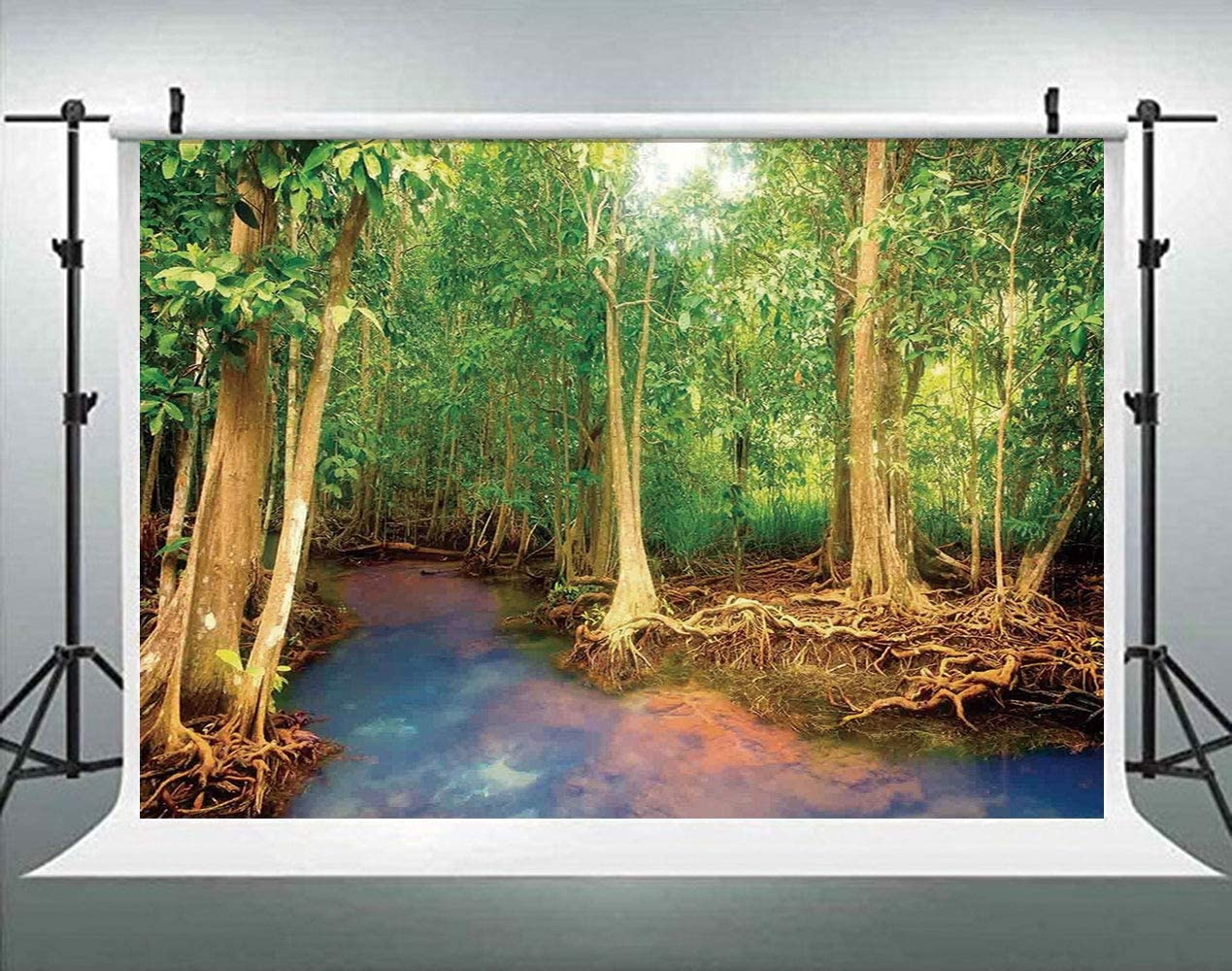 ALUONI 5x3ft Rainforest Decorations,Pongour Waterfall Exotic Asian Natural Beauty Photography Backdrop Photo Backdrops Portrait Background Studio Props AM027471