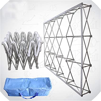 Portable Iron Folding Banner Stand Party Wedding Wall Frame Backdrop Display