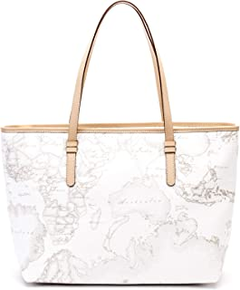 BORSA PRIMA CLASSE ALVIERO MARTINI GEO WHITE SHOPPING GRANDE CD0076188 WHITE