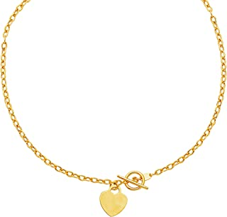 Best white gold toggle necklace Reviews