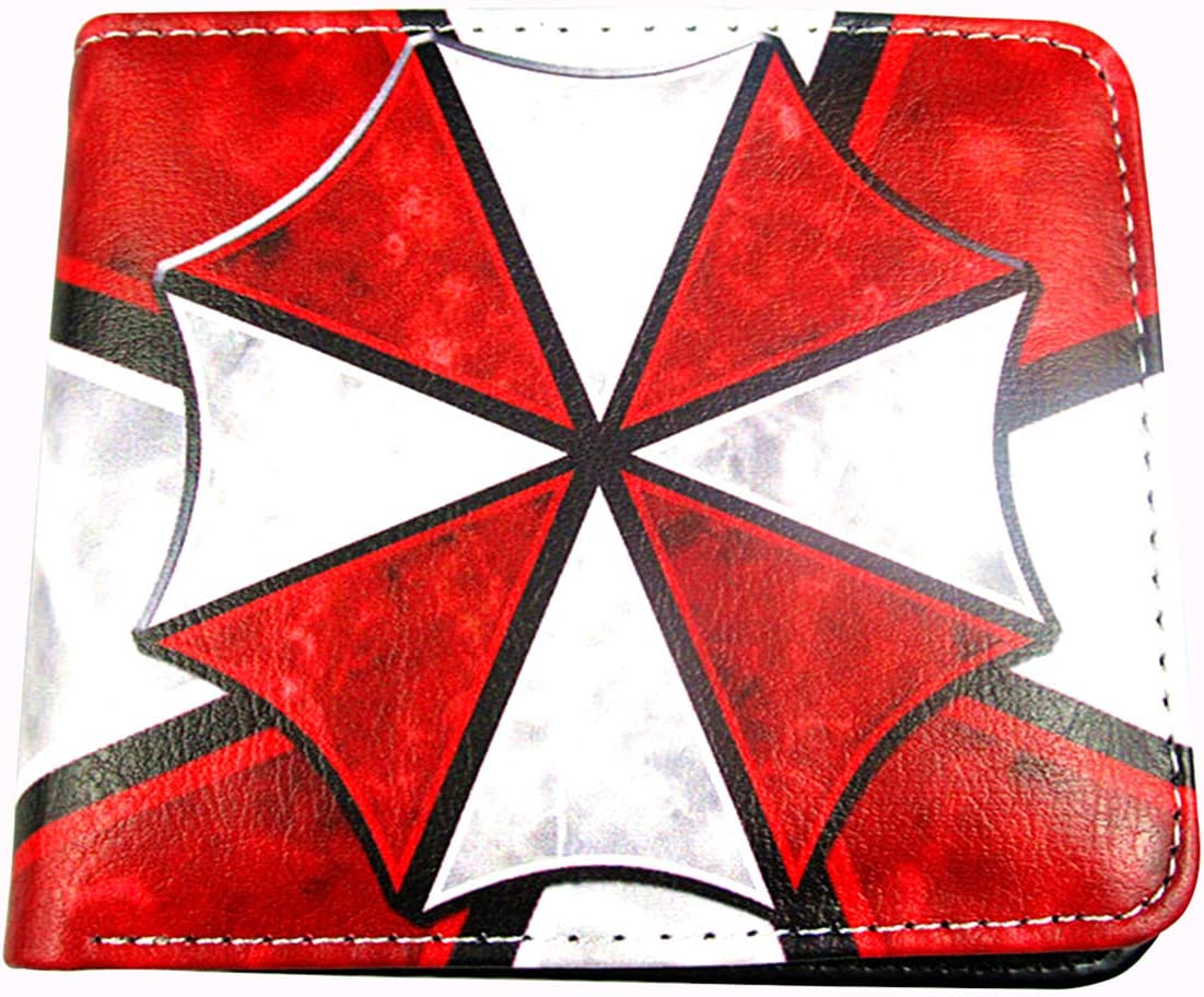 Resident Evil Umbrella Corporation Themed Logo PU Leather Wallet Bi-fold Wallet for Men (style A)