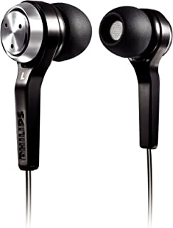 Philips in-Ear Headphones SHE8500 (Black) - Ergonomic Earbuds with Noise Isolation