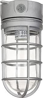 Sunlite 04900-SU Vaporproof Industrial Fixture, Ceiling Mount, Medium Base Socket (E26), 100W Max, 120 Volt, Outdoor, UL Listed, Clear Glass Jar, 5.5-Inch, Metallic Finish