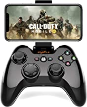 PXN Wireless Mobile Gaming Controller MFi Certified Gamepad with Phone Clip for iOS iPhone, iPad and Apple TV - Black