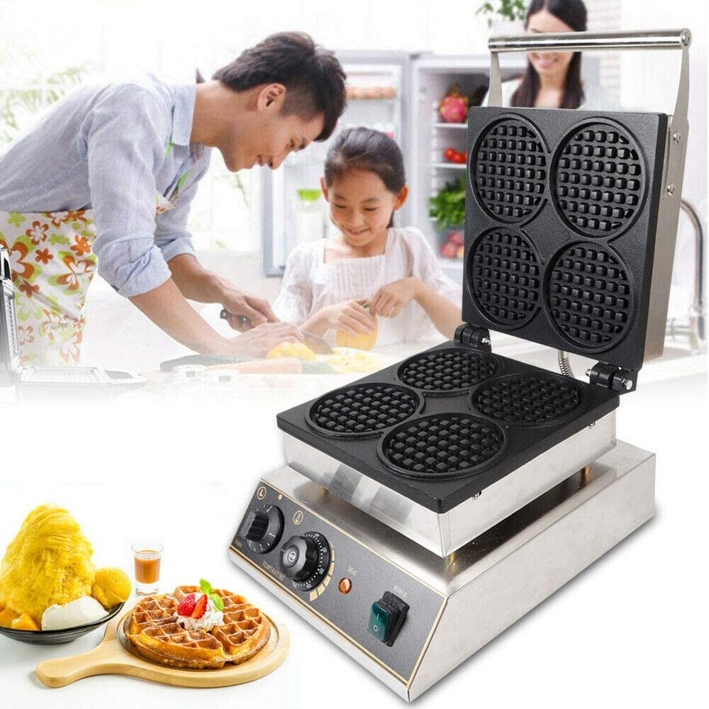 Ethedeal 4pcs Round Waffle Maker Ma 110V Spring new work one Max 71% OFF after another - 1750W Electric