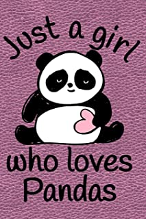 Just A Girl Who Loves Pandas: Journal, Notebook, Diary Or Sketchbook With Dot Grid Paper