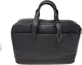 Coach Black Leather Hamilton Laptop Bag Briefcase F11312 NILET