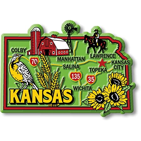 Kansas Souvenir Kansas Kansas Wedding Favor Kansas Santa Kansas  Postcard Magnet Kansas  Gift Kansas Magnet Kansas Christmas Gift
