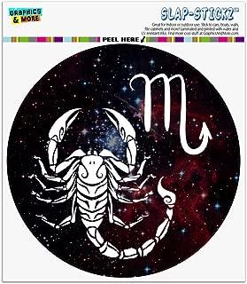 Graphics and More Scorpio Scorpion Zodiac Sign Horoscope in Space Automotive Car Window Locker Circle Bumper Sticker