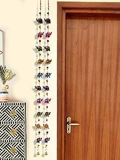 DreamKraft Paper Mache Elephant Full Door Hangings(1.6 M, 20 Elephant) - Set of 2