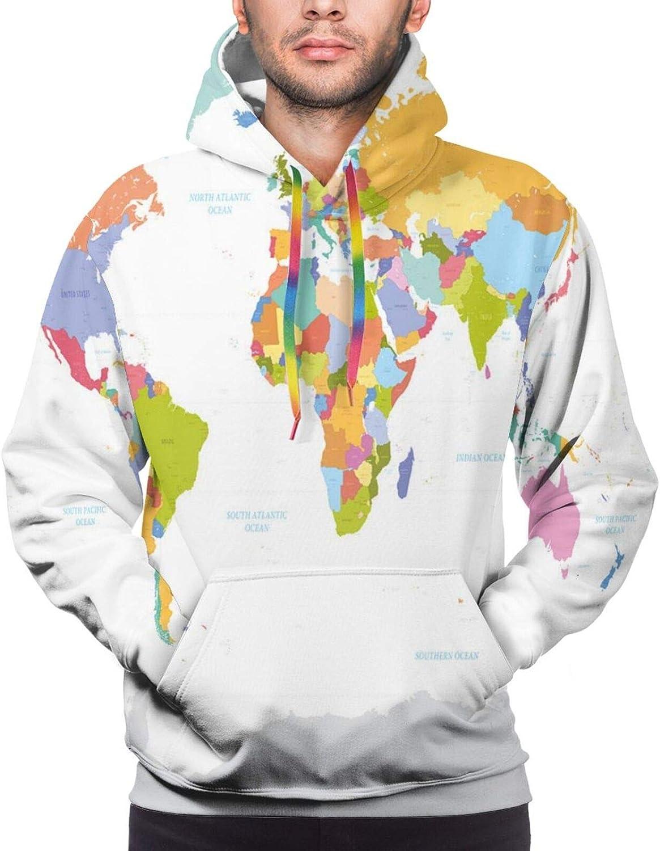 Men's Hoodies Sweatshirts,Highly Detailed Floral Oriental Pattern On Geometric Colorful Background Artwork