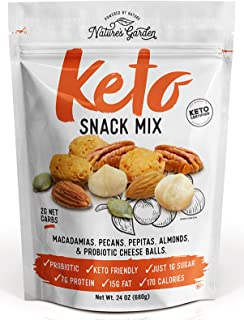 Nature's Garden Keto Functional Snack Mix (Probiotic Cheese Balls) - Delicious & Fresh Flavor Natural Natural Friendly Ket...