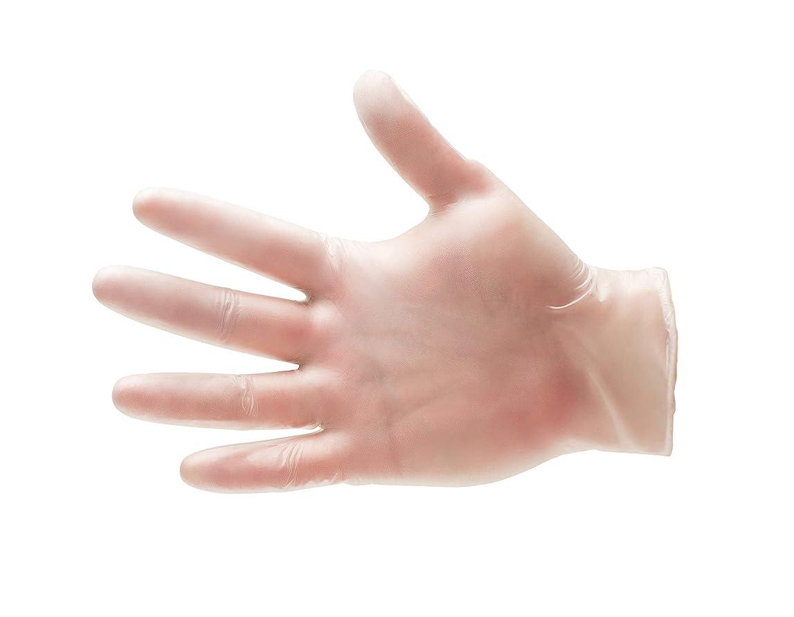 救い意気込みカセット100?/ボックスビニール使い捨て手袋パウダーフリーnon-medical ‐ラージ4.5?Mil Thick