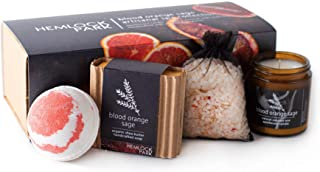 Artisanal Spa Collection   Apothecary Candle, Shea Butter Soap, Bath Bomb, Mineral Salt Bath Soak   Handcrafted with Organ...