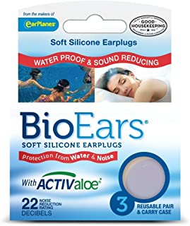 BioEars Soft Silicone Earplugs 3 Pairs (Pack of 2)