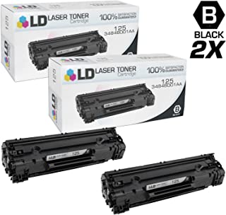 LD Compatible Toner Cartridge Replacement for Canon 125 (Black, 2-Pack)