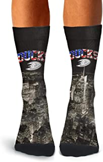Men's Camouflage Hockey Socks Lightweight Cozy Printed Crew Socks