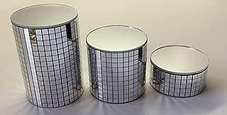 Set of 3 Small Chrome Mirror Pedestals