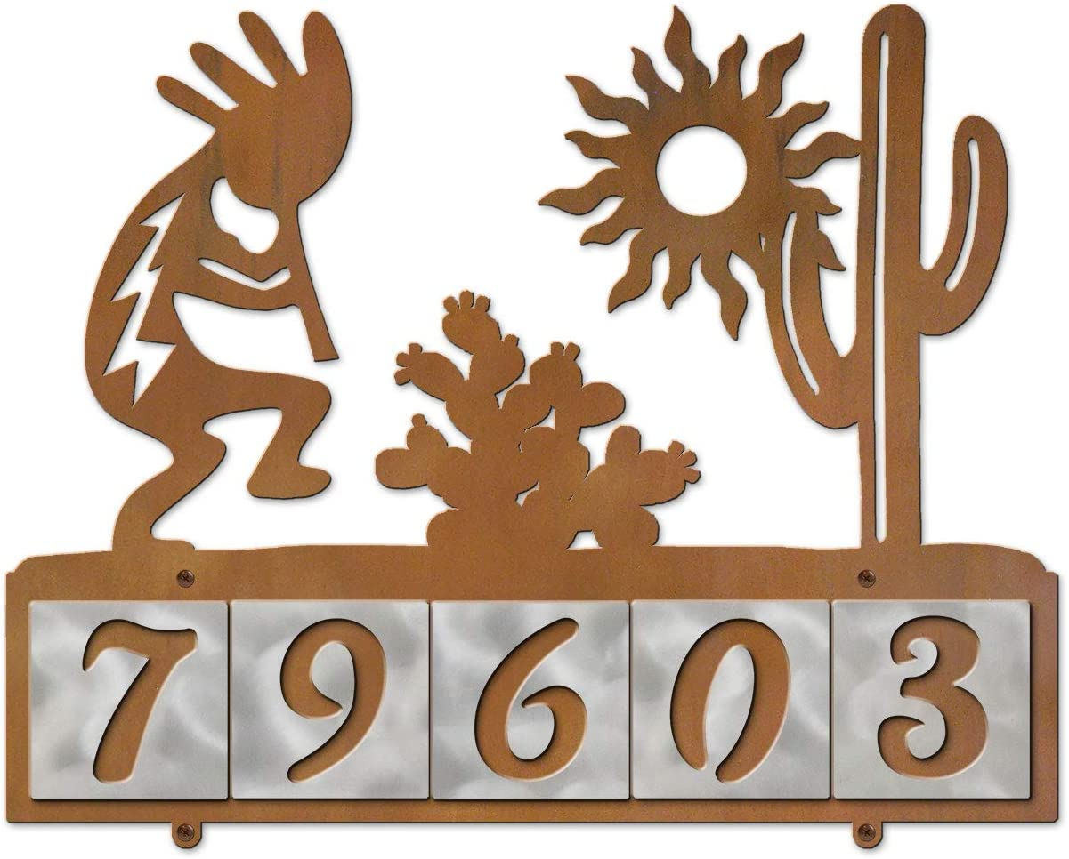 Cold Nose Selling rankings Weekly update Creations Kokopelli Scene Metal with Rustic Plaque Hor