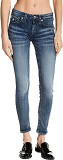 True Religion Women'sCurvy Skinny Fit Distressed Jeans, ENTM Falling Sands, 30