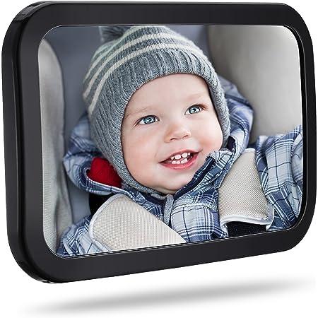 Topelek Rücksitzspiegel Spiegel Auto Baby Rückspiegel Baby Autospiegel Shatterproof Car Rückspiegel Kompatibel Mit Meisten Auto Drehbar Doppelriemen 360 Schwenkbar Für Baby Kinderbeobachtung Baby