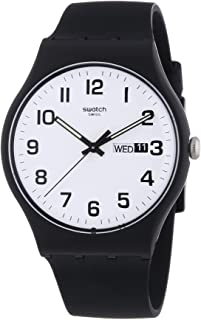 Classic Quartz Silicone Strap, Black, 20 Casual Watch (Model: SUOB705)