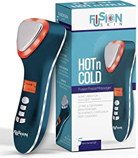 Lift Care Fusion Skin Hot & Cold Dual Facial Massager Sonic Vibration Led Light Therapy Anti-Aging device (Fusion Skin)