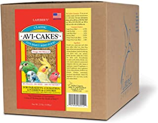 LAFEBER'S Classic Avi-Cakes Pet Bird Food, Made with Non-GMO and Human-Grade Ingredients, for Cockatiels Conures Parakeets...