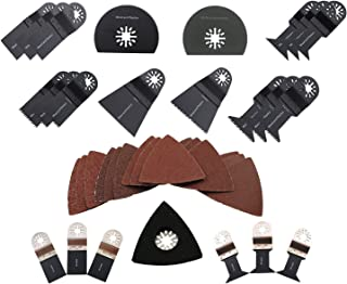 ABN Oscillating Multitool Fein Multimaster Blade Combo with Sanding Pad and Assorted Grit Sandpaper, 38-Piece Kit