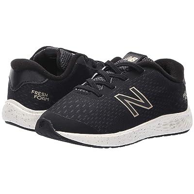 New Balance Kids KVARNv1 (Infant/Toddler) (Black/Magnet) Girls Shoes
