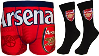 Arsenal Football Club Official Soccer Gift Mens Crest Socks & Boxer Shorts