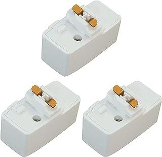 Abishion 引掛シーリングプラグ、ダクトレール用 取付簡単、100V/50-60Hz専用600W(6A)まで 、引掛シーリングボディ ライティングレール用 、PSE認証(白い3個入り)