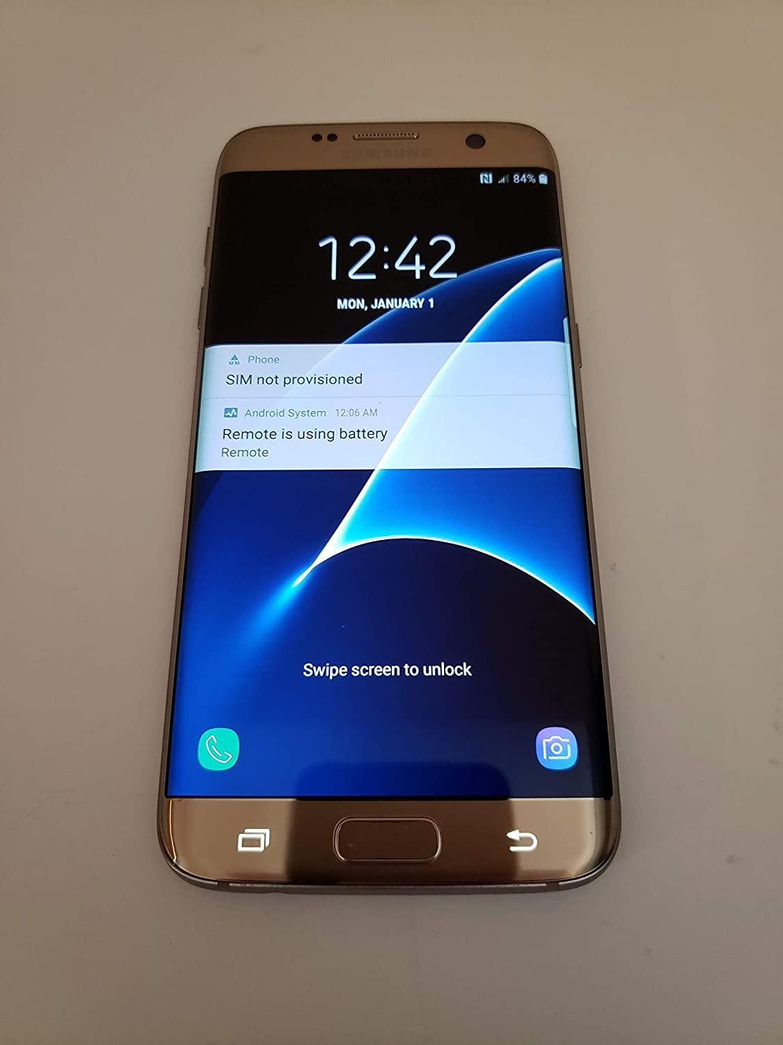 Amazon Com Samsung Galaxy S7 Edge G935a 32gb Gold Platinum At T Cell Phones Accessories