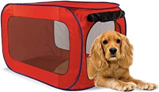 """Lexi Home Pop-Up Indoor or Outdoor Dog Pen – Pet Pens for Small Dogs – 33.5"""" x 19"""" Pet Pen for Dogs – Pet Exercise Pen – Pet Playpen"""