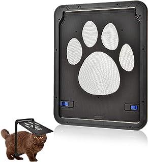 OIZEN Puerta para Gato Gateras para Gato Puerta para con Gato Cierre Magnético 29 x 24cm Puerta para Mascota para Gatos y ...