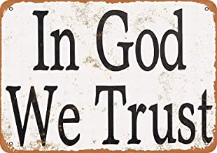 Joycenie Tin Sign New Aluminum Metal Sign in God We Trust 8x12 Inch