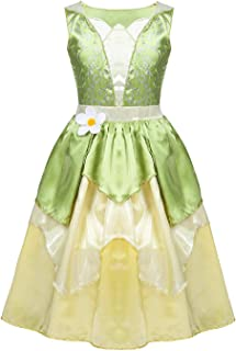 Hinlot Classic Princess Lime Green Fancy Dress Dress up Costume for Girls