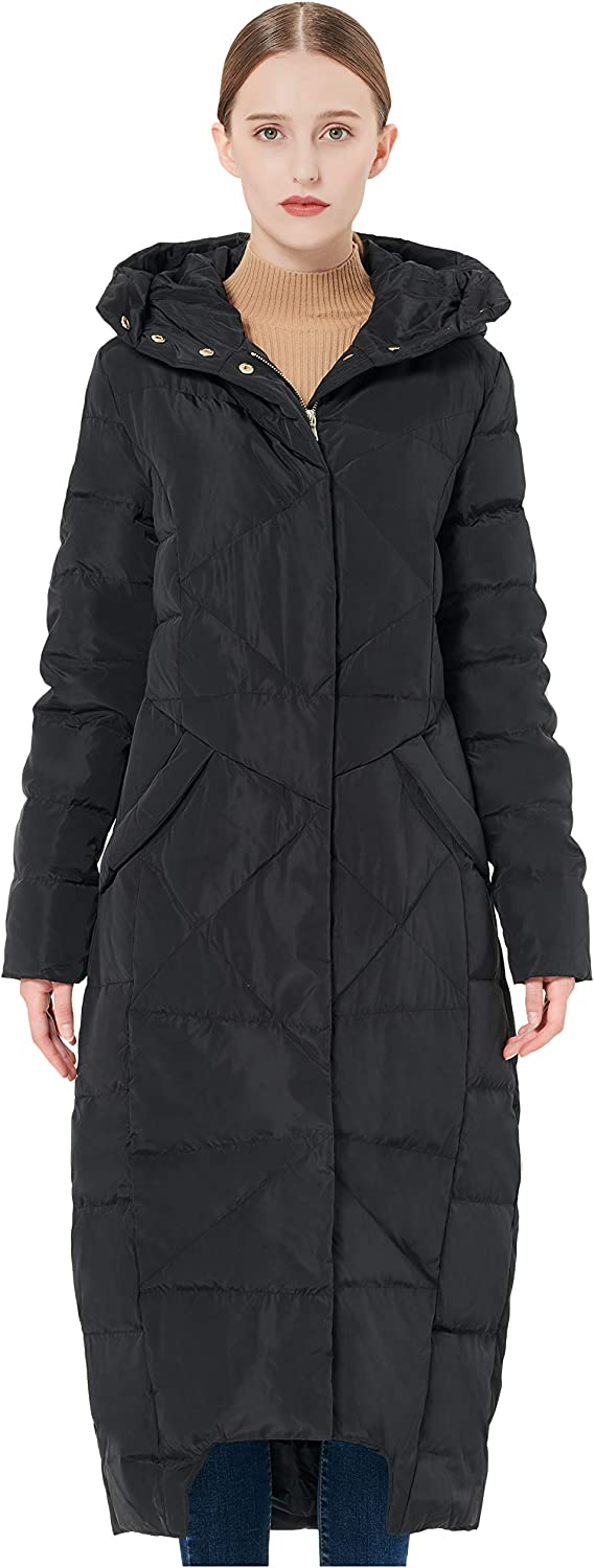 goldlay Women's Puffer Down Coat Winter Maxi Jacket with Hood