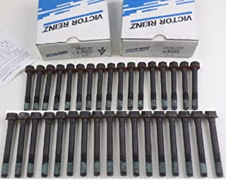 Full Set of Victor Cylinder Head Bolt sets compatible with GMC Chevy Hummer 6.2 & 6.5 Turbo Diesel Engibes. (BOLTS for BOTH HEADS)