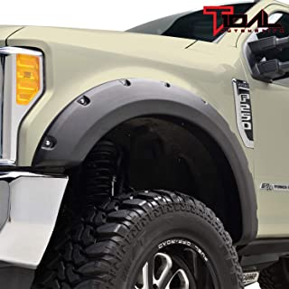 Tidal Fender Flares 4pcs Set Pocket Rivet Style for 17-18 Ford Super Duty F-250 / F-350
