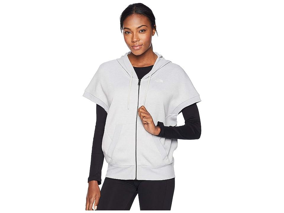 The North Face Train N Logo Short Sleeve Sweatshirt (TNF Light Grey Heather) Women