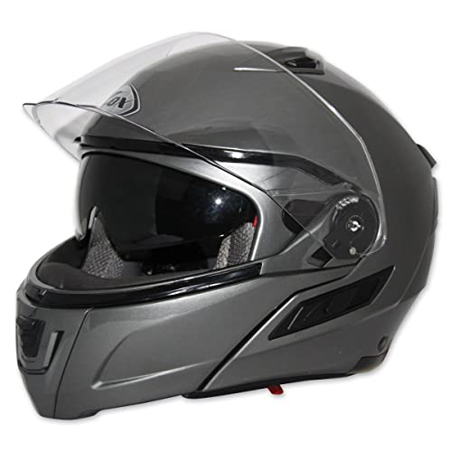 e8fe3948 ZOX Unisex Adult Condor SVS Titanium Modular Helmet Z88-30874