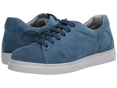 Canali Suede Lace-Up Sneaker (Blue) Men