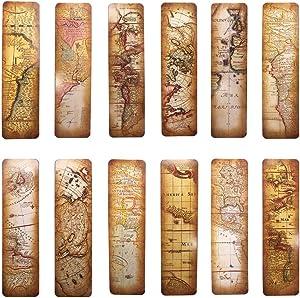 Vintage Style Bookmarks for Women Men, 30PCS (The Secret of Map)