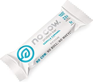 No Cow Protein Bars, Vanilla Caramel, 22g Plant Based Vegan Protein, Keto Friendly, Low Sugar, Low Carb, Low Calorie, Glut...