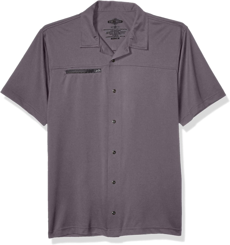 Tru-Spec Men's Eco Tec Knit Camp Shirt, Steel Grey, X-Large Regular