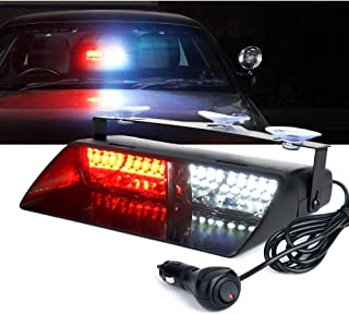 Xprite White & Red 16 LED High Intensity LED Law Enforcement Emergency Hazard Warning..